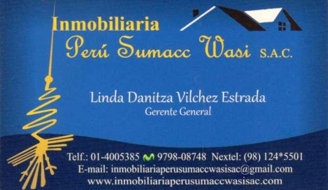 Inmobiliaria peru sumacc wasi s.a.c ,solicita casas terrenos etc