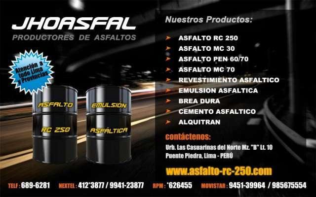 Jhoasfal vende asfalto rc-250 rpm:*626455