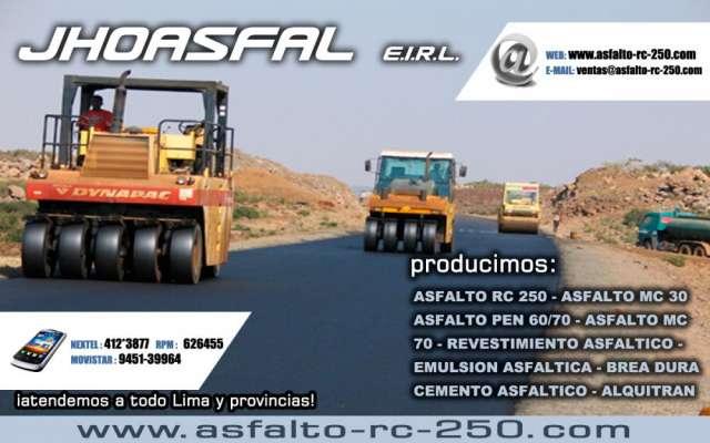Stock asfalto prepara en caliente y en frio telf:016896281
