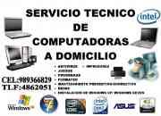 Servicio tecnico de computadoras a domicilio
