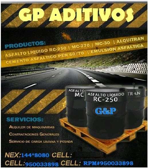 Asfalto liquido / brea liquida / alquitran por cilindros