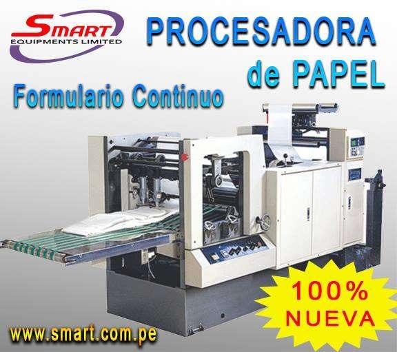 Procesadora de papel continuo