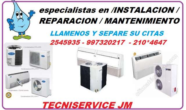 (aire acondicionado)reparacion (carrier) cell: 997320217