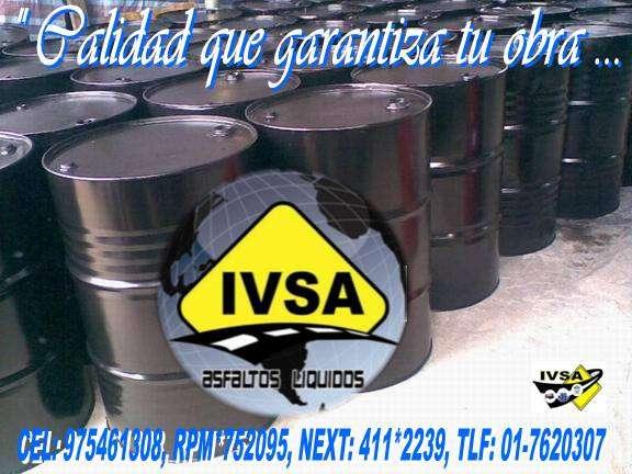 La empresa ivsa te ofrese emulsion cationica con polimero de rotura lenta, media, y rapida rpm*752095