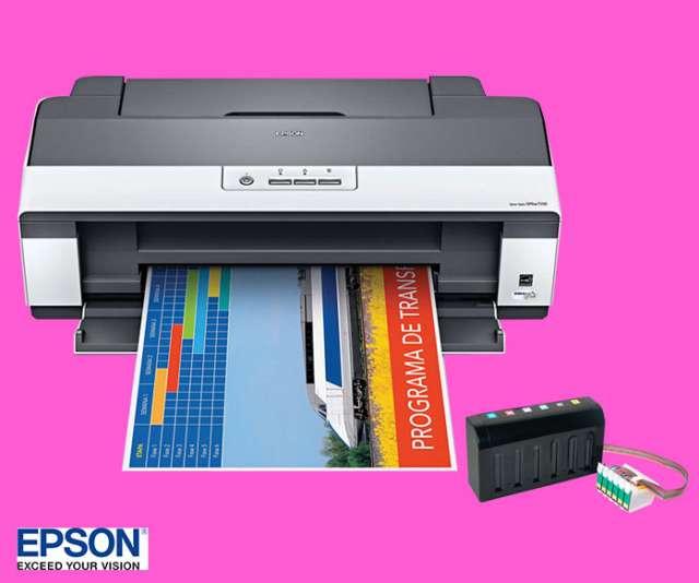 Impresora de inyeccion epson t 1110 con sistema continuo para sublimacion modelo ejecutivo