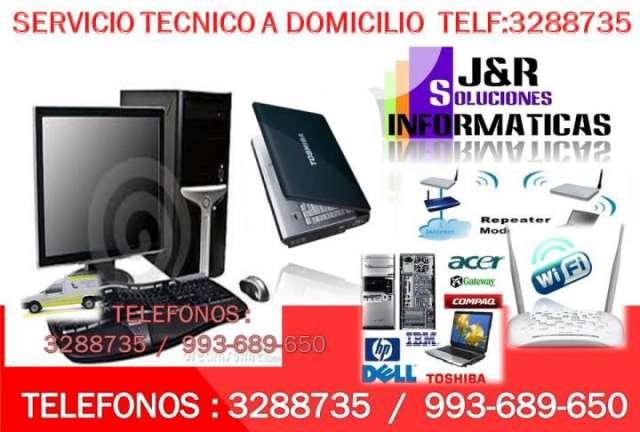 Servicio tecnico a computadoras y laptops redes wifi,reparaciones a domicilio