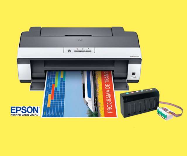 Impresora con sistema continuo + tinta uv fotografica - epson