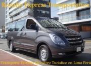 Transporte Turistico Privado a ICA NAZCA PARACAS en Vans