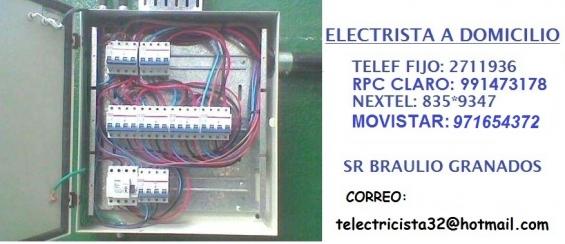 Electricista la molina domicilio averias 991473178 - 971654372