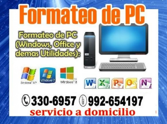 Reparacion y mantenimiento de computadoras y laptop servicio tecnico a domicilio