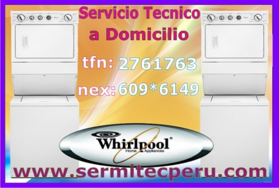 *técnicos experots en mantenimiento de secadoras whirlpool/7992752-barranco*
