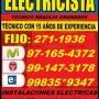 ELECTRICISTA LINCE DOMICILIO NORMADO 991473178 - 971654372