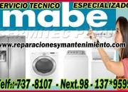 Tecnicos especialistas en reparacion y mantenimiento lavadoras mabe 7378107 (zarate)