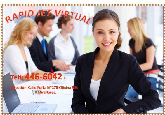 Alquilo oficina virtual con licencia ubicado en miraflores