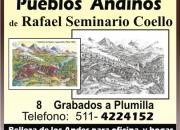 Pueblos andinos, grabados dibujos ,regalo o deco…