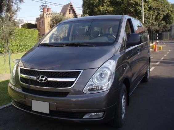 Alquiler van hyundai h1 con conductor en lima peru - traslados ejecutivos lima