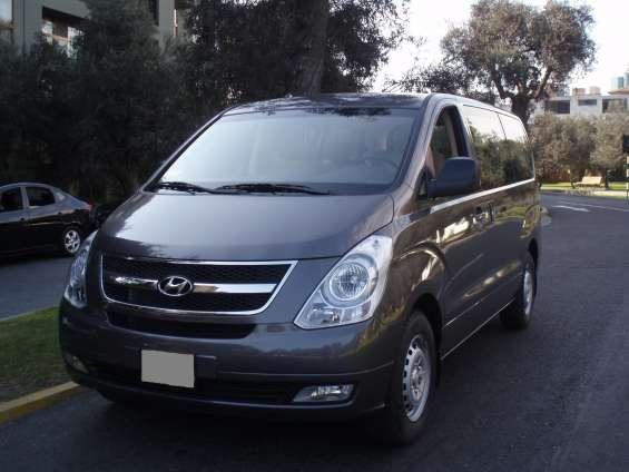 Alquiler de van hyundai h1 lima peru - transporte turistico en lima
