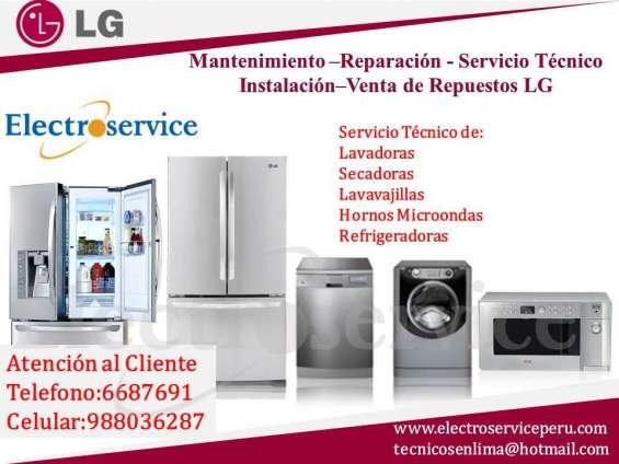 Lg soluciones técnicas de lavadoras/ secadoras y refrigeradores - lima