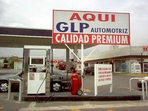 Zona venta de gas