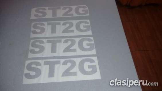 Estoy buscando vender oferta sticker vinilo 3m para scooptram st2g impecable.