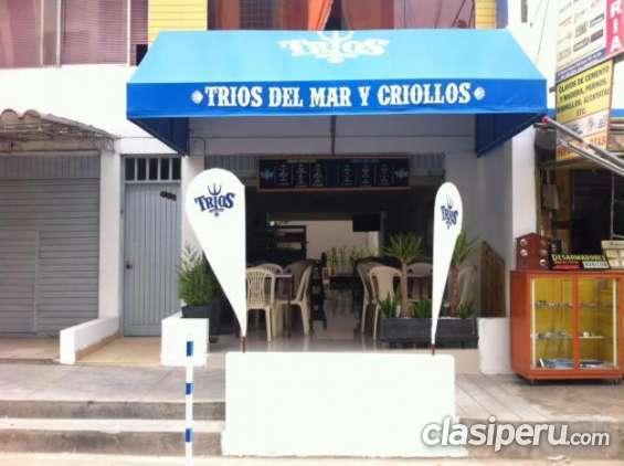 Buen precio! se traspasa restaurante cevicheria en san juan de miraflores muy buena ubicación.