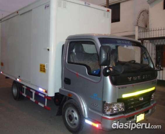 Alquiler camion furgon seguro 4ton con gps, camara posterior excelente precio.
