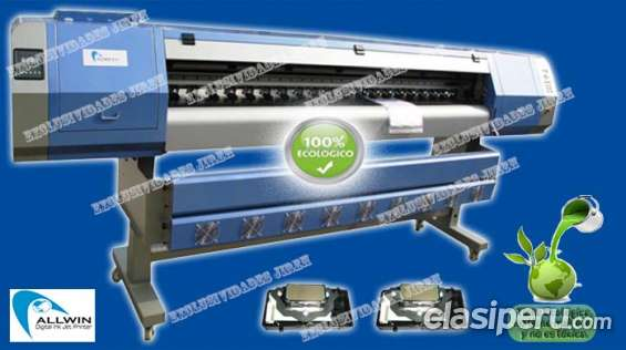 Maquina de gigantografia allwin 2800 alta resolucion 1.80m - ecosolvente 1200 dpi 2 cabeza