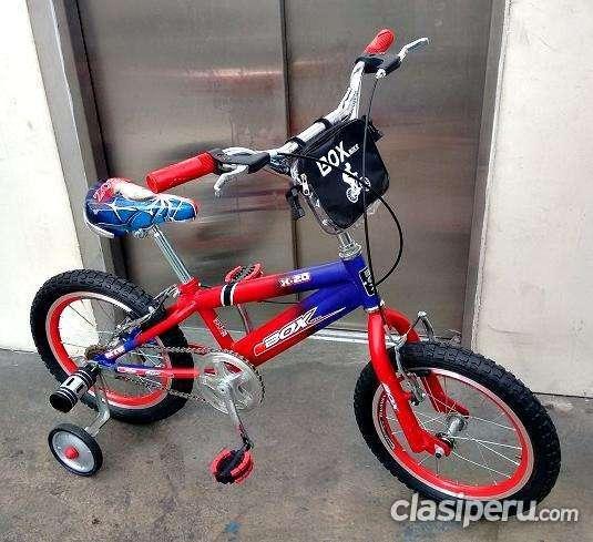 Vendo en buen estado **** bicicleta para niños aro 16 bmx box bike**** la mejor calidad!