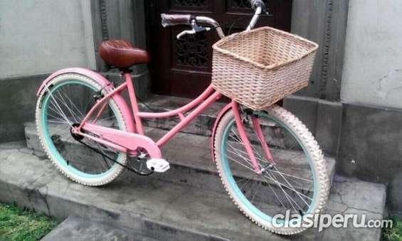 Muy poco uso bicicleta vintage retro paseo nueva!! con canasta para mujer urgentísimo.