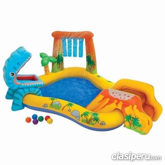 Casi nuevo vendo piscina inflable dinosaurio intex 57444 en buen estado.