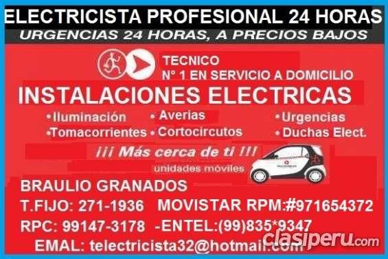 Electricista miraflores domicilio calidad 991473178 - 971654372