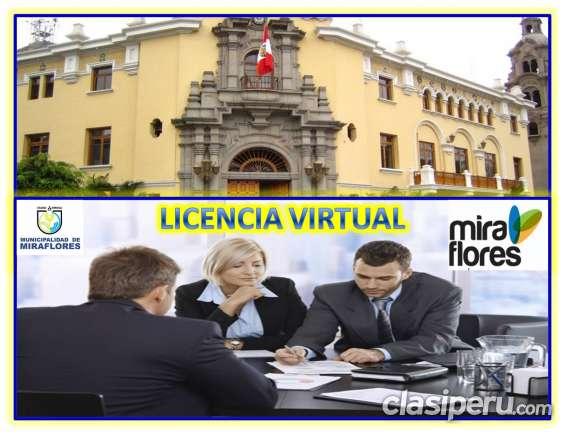 Alquilo oficina virtual con licencia municipal en miraflores.