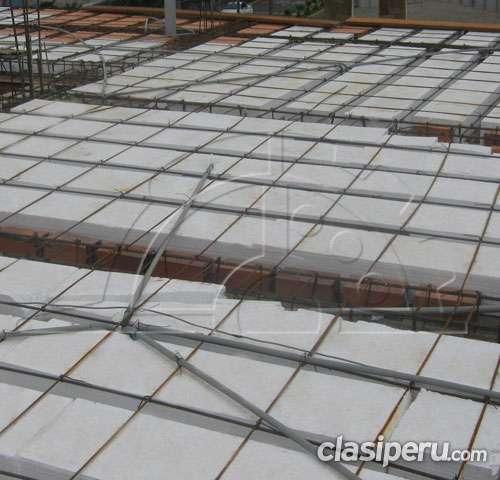 Ladrillos para techo de tecnopor