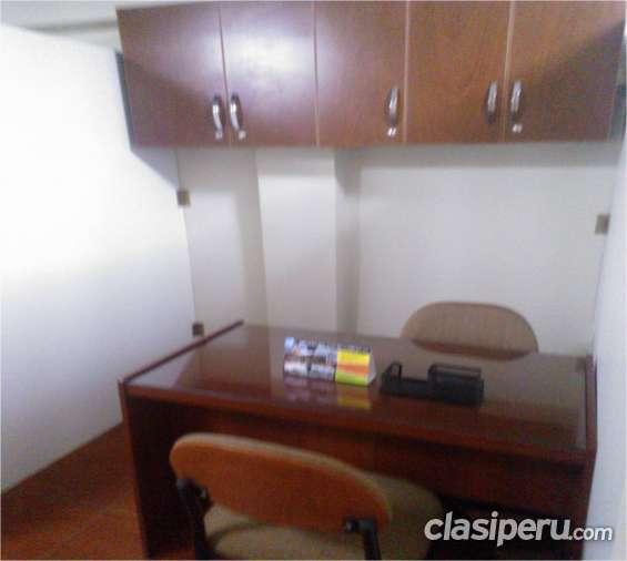 Alquilo oficina compartida amoblada en miraflores, lima.