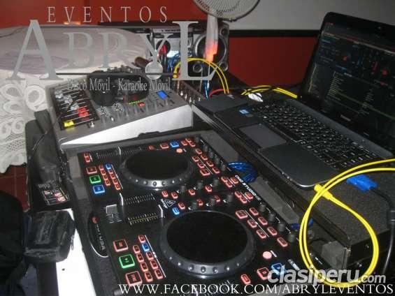 Alquiler de dj, sonido, luces y hora loca para fiestas de promoción.