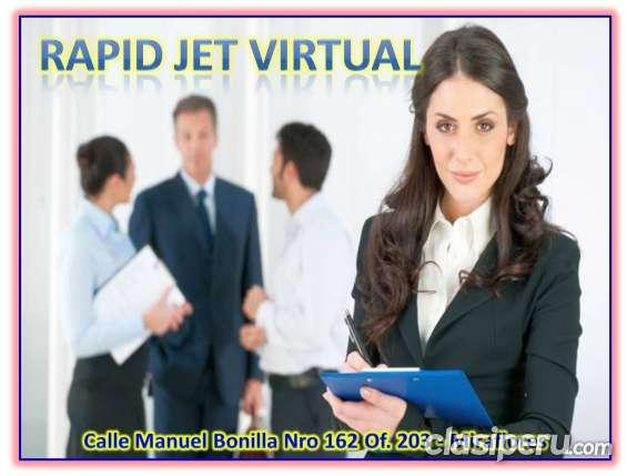 Se alquila oficina virtual con licencia de funcionamiento en miraflores.