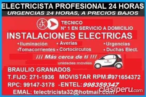 Electricista la molina domicilio seguridad 991473178 - 971654372