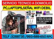 Servicio tecnico a computadoras,internet wifi,laptops,redes inalambricas wifi,a domicilio