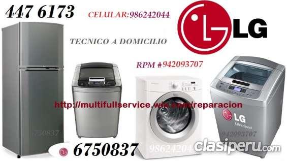 Servicio tecnico lg de refrigeradora lavadora