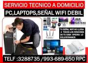 Tecnico de internet wifi,computadoras.laptops,redes wifi,a domicilio