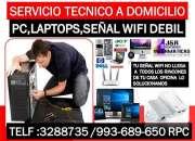 Servicio tecnico de Computadoras,laptops,redes wifi,repetidores wifi,a domicilio