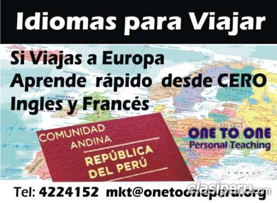 Ingles y frances rapido para visitar europa
