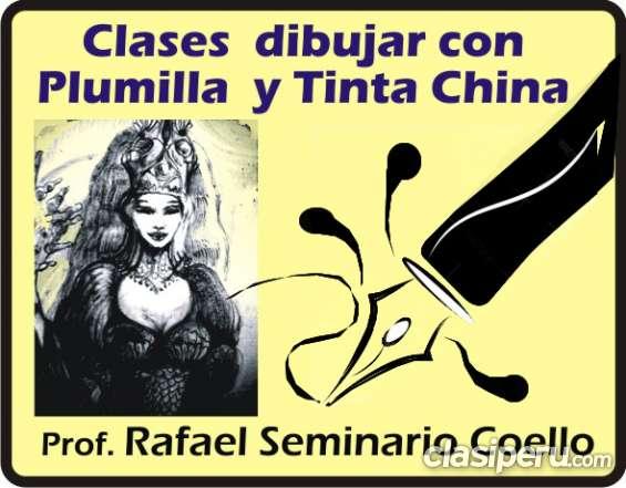 Aprenda dibujo a plumilla y tinta china
