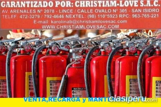 Venta de extintores de polvo quimico seco, gas carbonico, acetato en lima