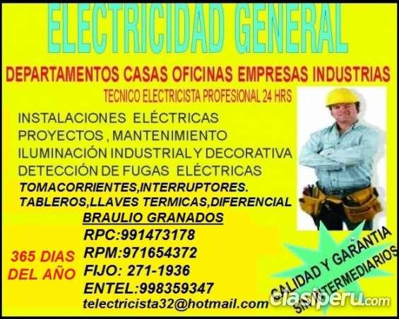 Electricista miraflores domicilio amio 991473178 - 971654372