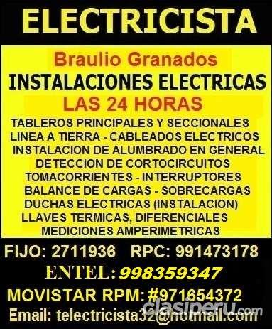 Electricista pueblo libre domicilio solucion 991473178 - 971654372