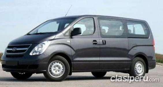 Alquiler de minivan hyundai h1 sin chofer