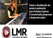 Musicalizacion - Música ambiental-Venta-Realización-para-hoteles-restaurantes-Peru
