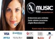 Spots - Spots Radiales-locuciones-voz en off-publicidad radial-Avmusic-Peru