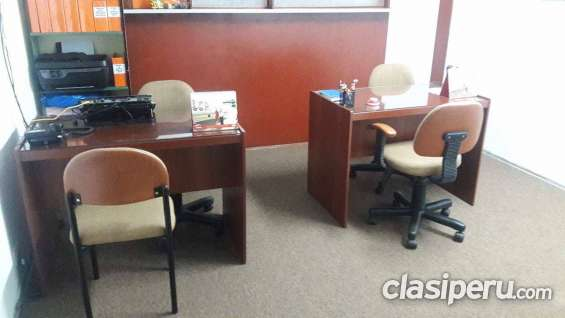 Alquiler de oficina y licencia , recepcion de mensajeria